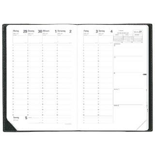 QUO VADIS Kalender-Einlage Minister 16 x 24 cm 1 Woche auf 2 Seiten 2018
