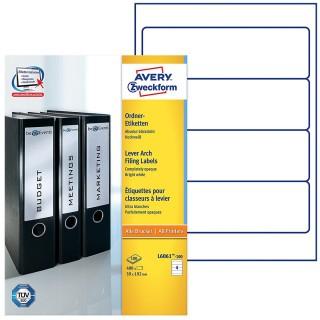 AVERY ZWECKFORM Ordneretiketten L6061-100 400 Stück breit 59 x 192 mm weiß