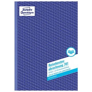 AVERY ZWECKFORM Reisekostenabrechnung 741 DIN A4 50 Blatt mit Blaupapier
