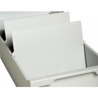 EXACOMPTA Trennplatte A5 quer 2 Stück lichtgrau