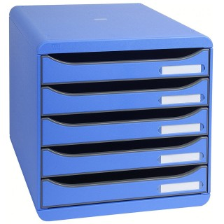EXACOMPTA Schubladenbox Multiform 309779D A4 Big-Box Plus Classic blau