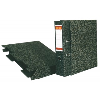 BENE Ordnerhülle A4  Hartpappe A4 schwarz/grau