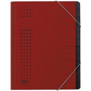 ELBA Ordnungsmappe 1112 A4 12-teilig rot