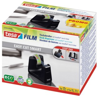 TESA Abroller Easy Cut Smart 53904 inkl. Klebeband 15 mm x 10 m