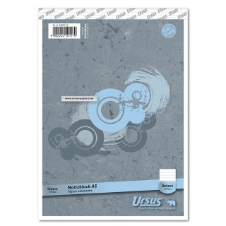 URSUS Notizblock A5 100 Blatt liniert