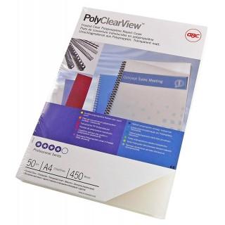 IBICO Deckblatt PolyClearView A4 300 µm 100 Stück transparent