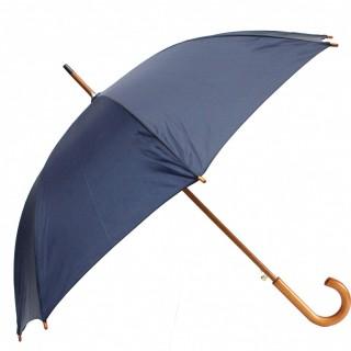 ZEUS Classic Regenschirm mit Holzgriff 105 cm dunkelblau
