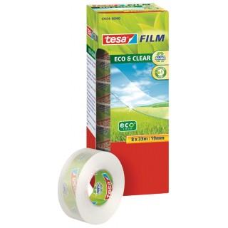 TESA Klebefilm Eco & Clear 15 x 10 m 10 Stück