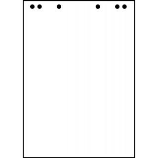 Flipchartblock 5 Stück à 20 Blatt 68 x 98 cm glatt