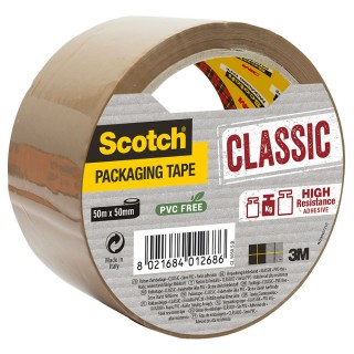 SCOTCH Classic Verpackungsklebeband 1 Rolle 50mm x 50m braun