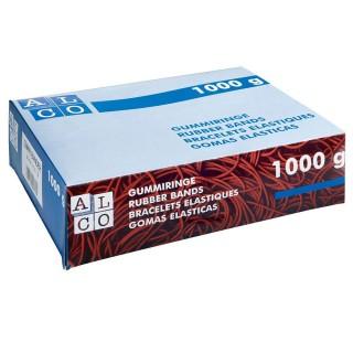 ALCO Gummiband 760 130 x 4 mm 1 kg rot