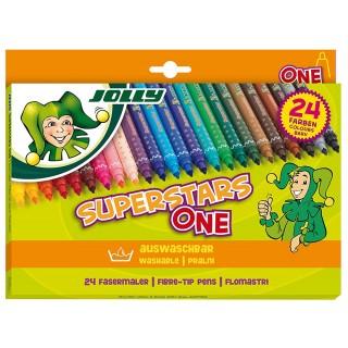 JOLLY Filzstift 445 Superstar 24 Stück mehrere Farben
