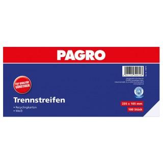 PAGRO Trennstreifen 23,5 x 10,5 cm 100 Stück weiß