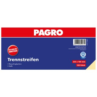 PAGRO Trennstreifen 23,5 x 10,5 cm 100 Stück gelb