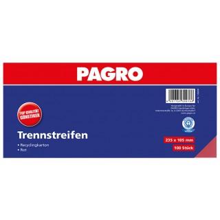 PAGRO Trennstreifen 23,5 x 10,5 cm 100 Stück rot