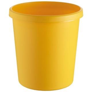 HELIT Papierkorb 18 Liter gelb