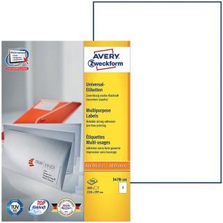 AVERY ZWECKFORM Etiketten 210 x 297 mm 200 Stück weiß
