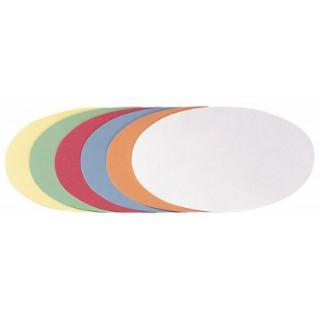 FRANKEN Moderationskarten Oval 19 x 11 cm sortiert 500 Stück