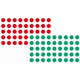 FRANKEN Markierungspunkt Kreis 19 mm rot und grün 1040 Stück