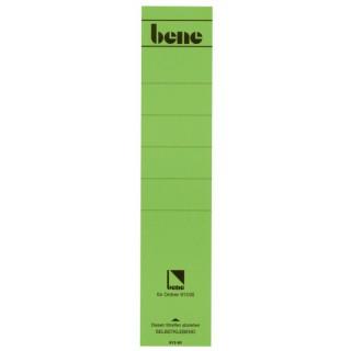 BENE Rückenschild 10 Stück lang/breit grün