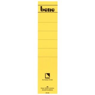 BENE Rückenschild 10 Stück lang/breit gelb