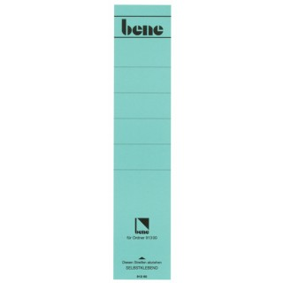 BENE Rückenschild 10 Stück lang/breit blau