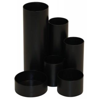 M&M Stifteköcher 6 Röhren schwarz