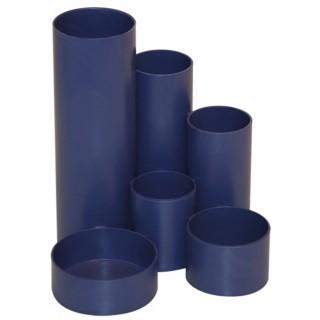 M&M Stifteköcher 6 Röhren blau