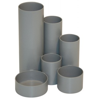 M&M Stifteköcher 6 Röhren Recycling grau