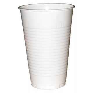 Becher Plastik 100 Stück 0,25 l weiß