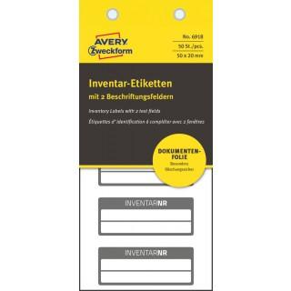 AVERY ZWECKFORM Inventar-Etiketten 6918 50 Stück fälschungssicher schwarz