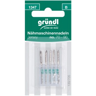 GRÜNDL Nähmaschinennadeln 1347 5 Stück Jersey No. 70 - 80 - 90