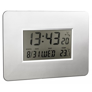 ALCO LCD-Funk-Uhr 191-2 silber