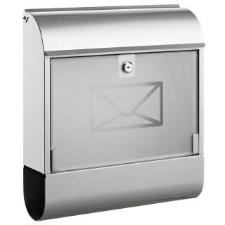 ALCO Briefkasten 8608 mit Zeitungsbox silber