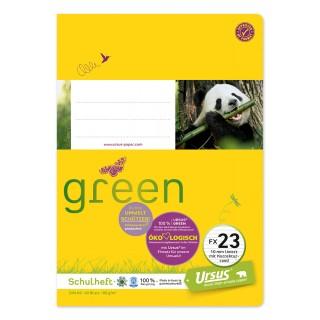 URSUS GREEN Heft FX23 A5 40 Blatt liniert mit Rand