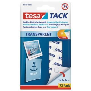 TESA Klebepads 59408 Tack 72 Stück transparent