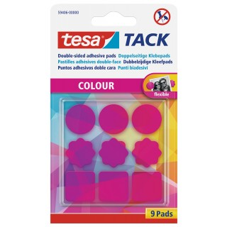 TESA Klebepads 59406 Tack 9 Stück pink