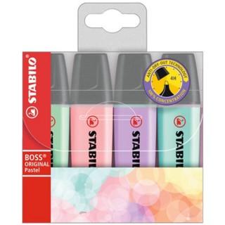 STABILO Textmarker Boss 70 4 Stück 2-5 mm pastell mehrere Farben