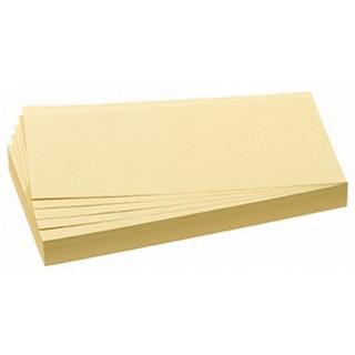 FRANKEN Moderationskarten 100 Stück 9,5 x 20,5 cm selbsthaftend gelb