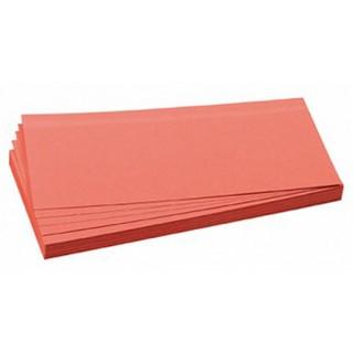 FRANKEN Moderationskarten 100 Stück 9,5 x 20,5 cm selbsthaftend rot
