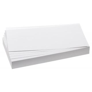 FRANKEN Moderationskarten 100 Stück 9,5 x 20,5 cm selbsthaftend weiß