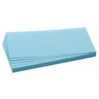 FRANKEN Moderationskarten 100 Stück 9,5 x 20,5 cm selbsthaftend blau
