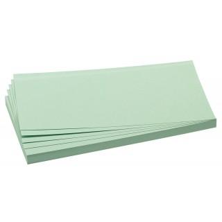 FRANKEN Moderationskarten 100 Stück 9,5 x 20,5 cm selbsthaftend grün