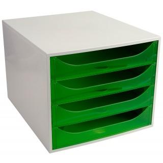 EXACOMPTA Schubladenbox Multiform 228697D A4 grau/grün