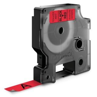 DYMO Beschriftungsband 45017 12 x 7 mm schwarz auf rot