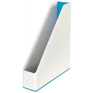 LEITZ Stehsammler 5362 WOW Duo weiß/blau metallic