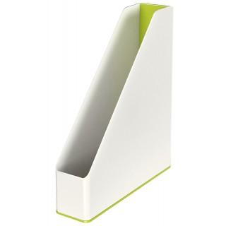 LEITZ Stehsammler 5362 WOW Duo weiß/grün metallic