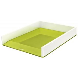 LEITZ Briefkorb 5361 WOW Duo A4 weiß/grün metallic