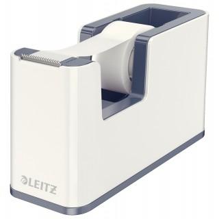 LEITZ Abroller 5364 WOW Duo befüllt weiß/grau metallic