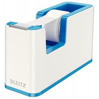 LEITZ Abroller 5364 WOW Duo befüllt weiß/blau metallic